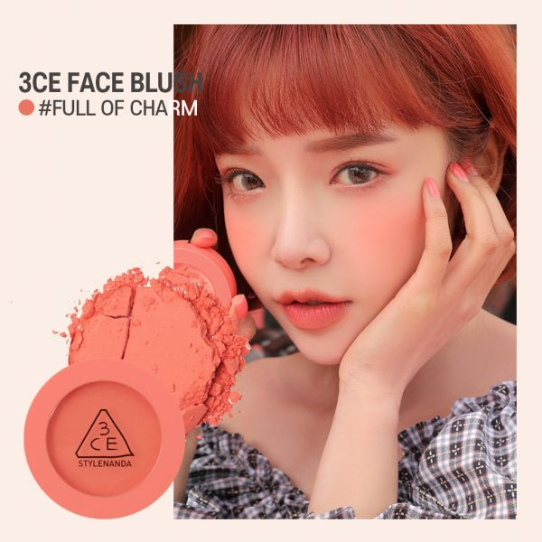 how to apply blush 3ce face blush full of charm bright coral pink