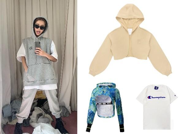 how to style oversized shirt park sora cropped jacket fila puma