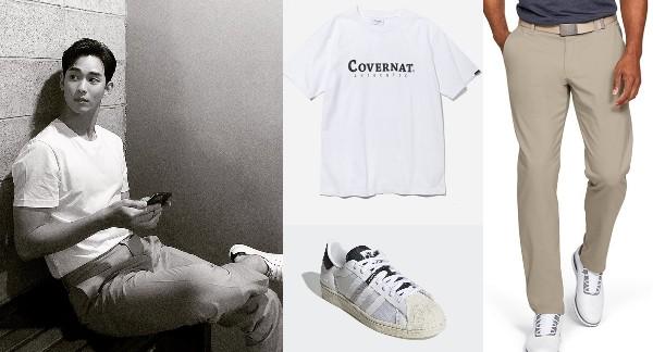 how to style oversized shirt kim soo hyun tshirt formal pants sneakers