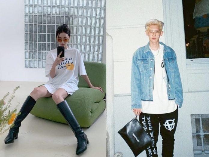 how to style oversized shirt korea fashion sora park stylenanda exo park chanyeol