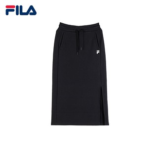 christmas present for her FILA Korea Collection F Logo Cotton Side Split Midi Skirt