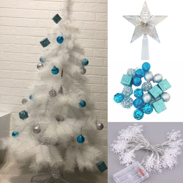 snowy frosted diy christmas tree idea