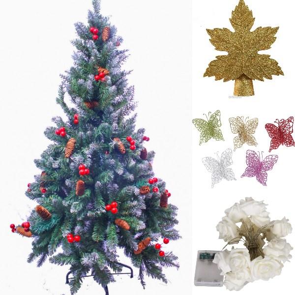 garden floral diy christmas tree idea