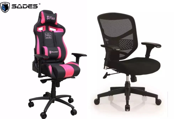 aesthetics comparison gaming chair vs office chair best gaming chairs singapore