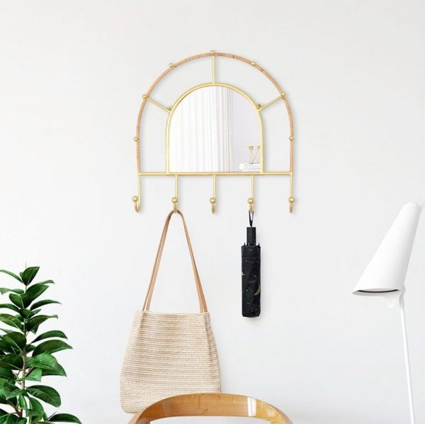 multipurpose wall mirror with hooks wall mirror singapore