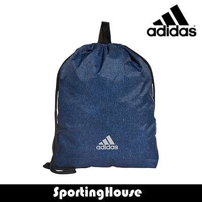 dark blue drawstring gym bag