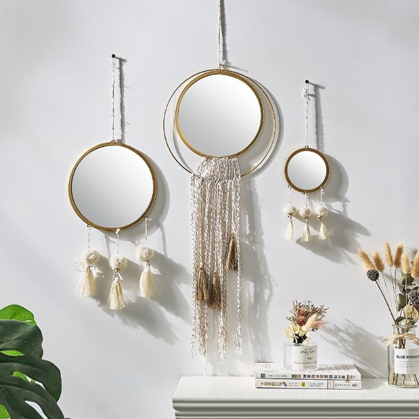 bohemian style hanging wall mirror singapore
