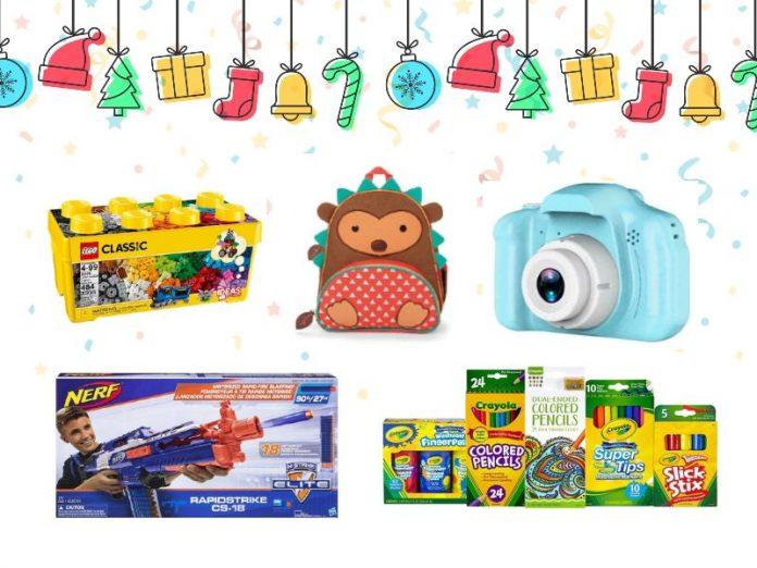christmas gift ideas for kids lego backpack camera nerf gun crayola