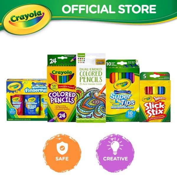 christmas gift ideas for kids crayola colourful bundle colour pencils markers paint