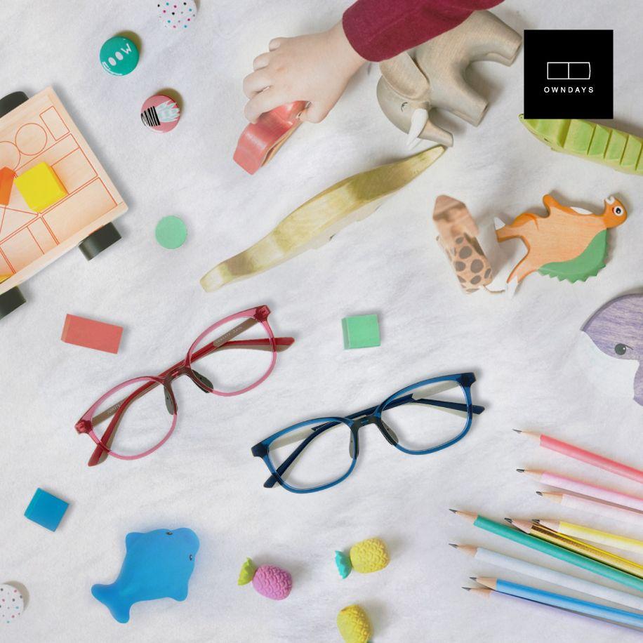 junni owndays blue light glasses for kids