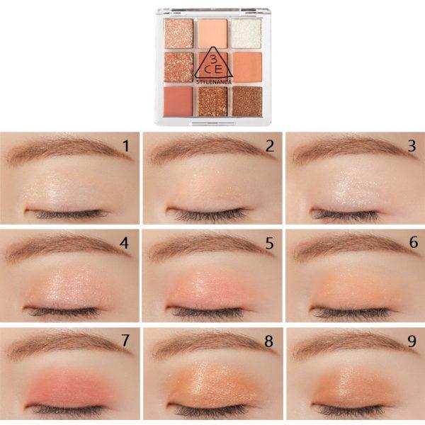 3ce multi eye colour palette swatch