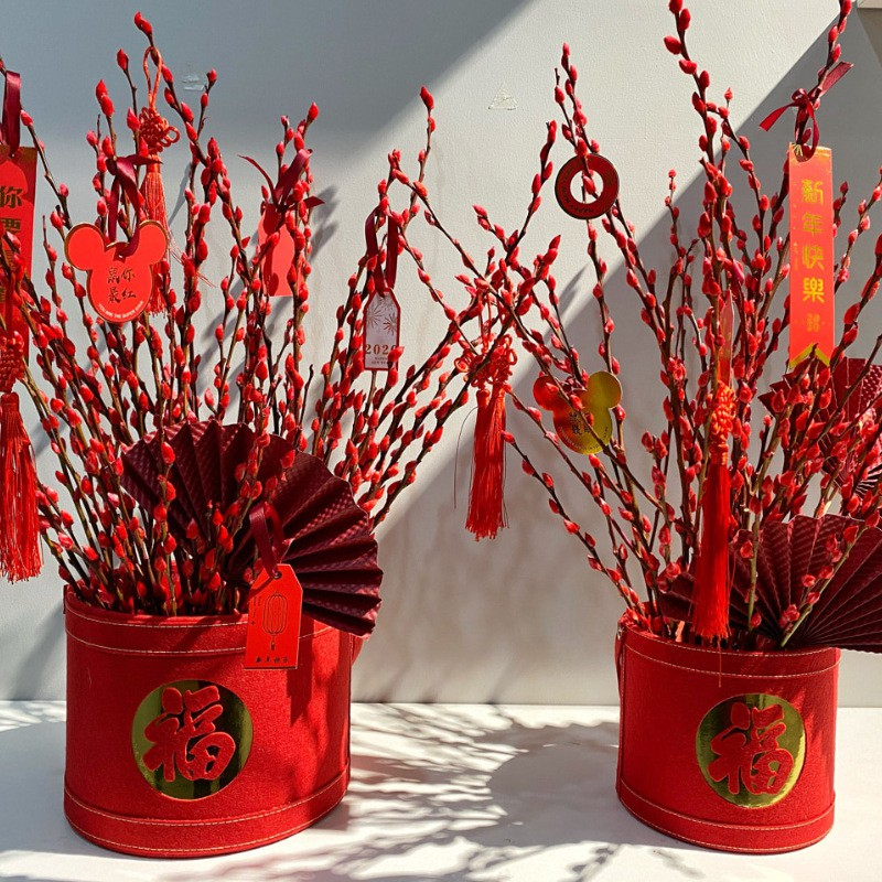 Chinese New Year flower baskets