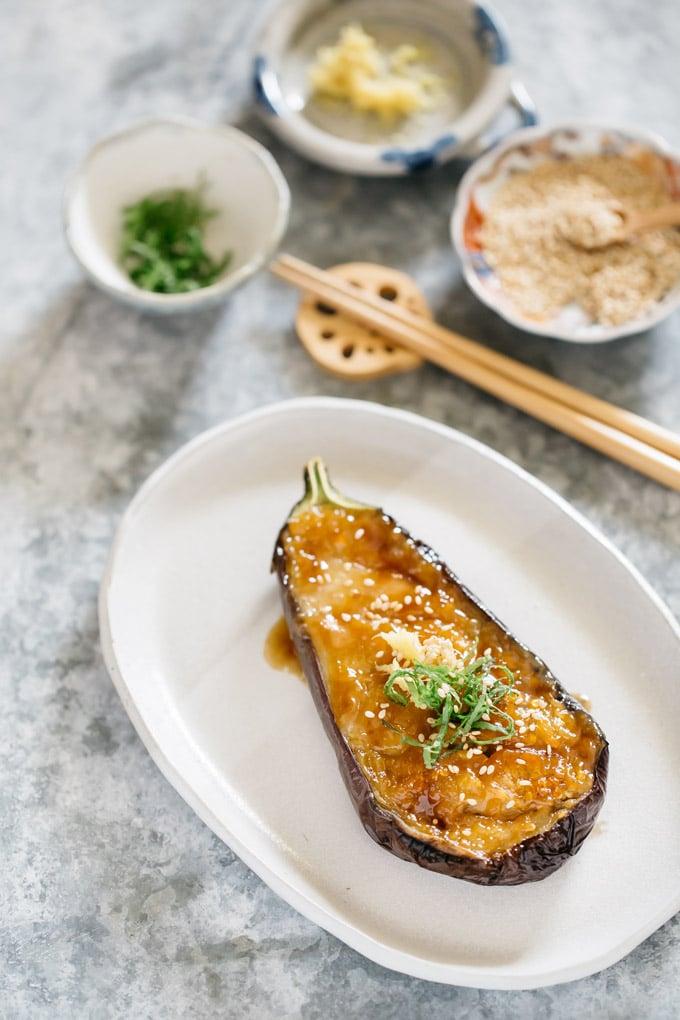 Healthy Eating Recipe Miso Eggplant