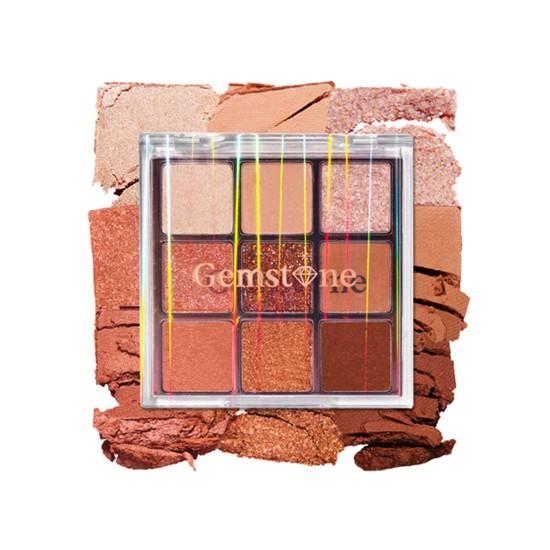 etude house eyeshadow play colour eyes #gemstone palette rose gold