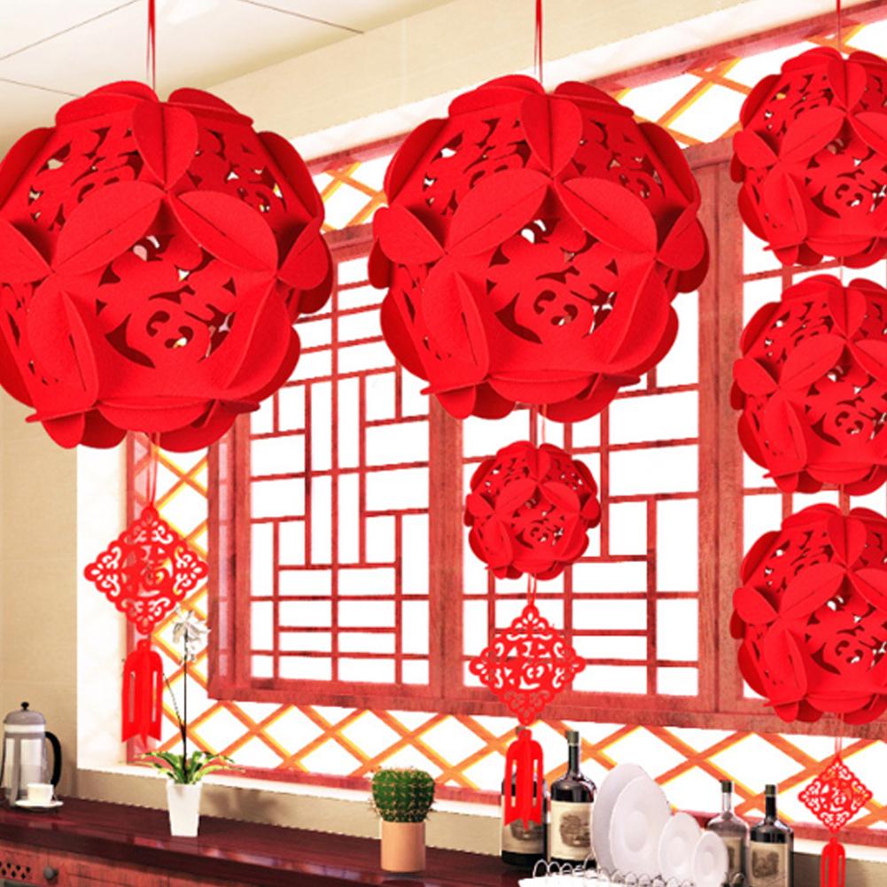 CNY decorations flower lanterns