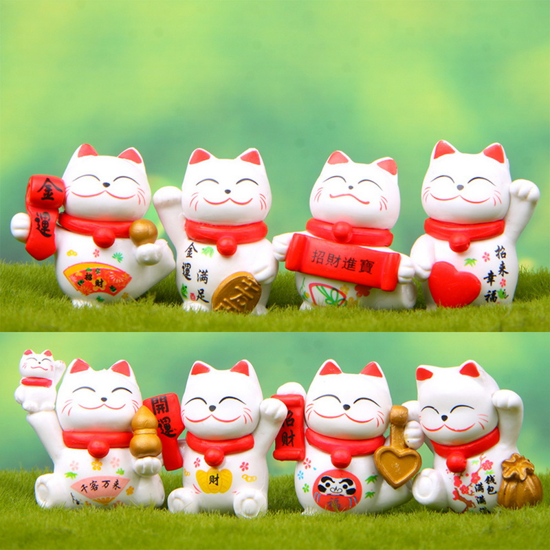 CNY decorations lucky cat statues