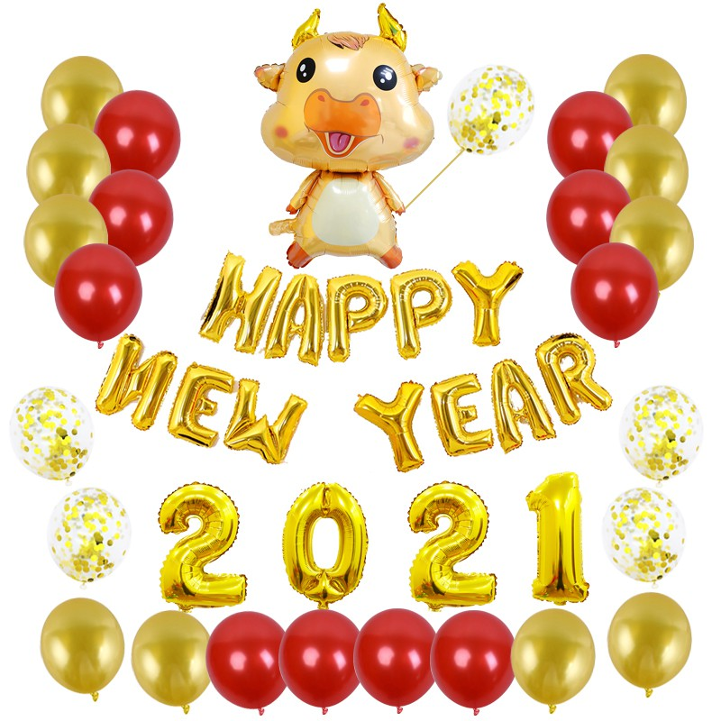 CNY decorations ox year balloon set