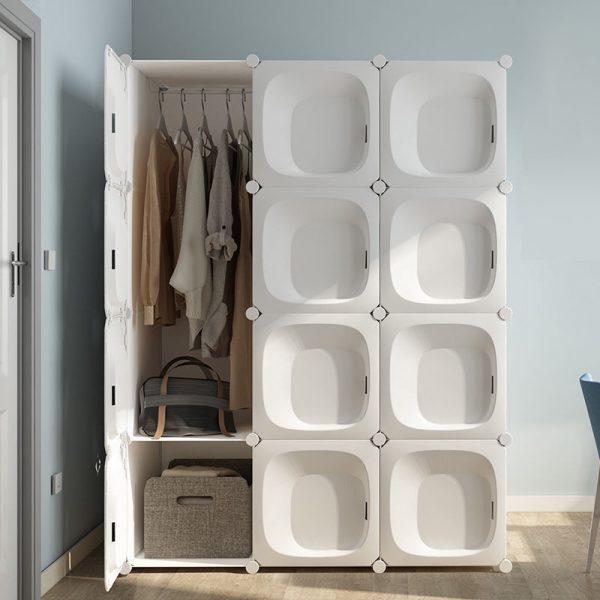 modern portable plastic wardrobe modular space saving furniture