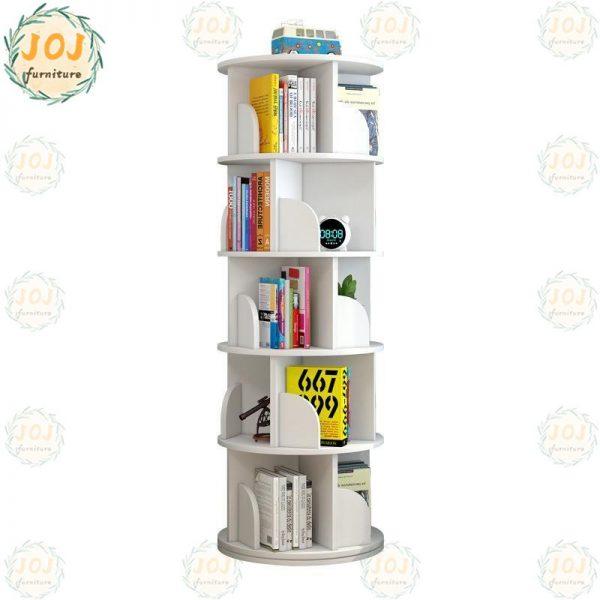 space saving furniture revolving 360 degree swivel bookshelf bookcase