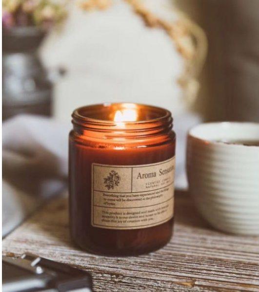 orange blossom scented candle maison jar