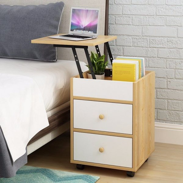 space saving furniture small apartment bedroom bedside table laptop stand