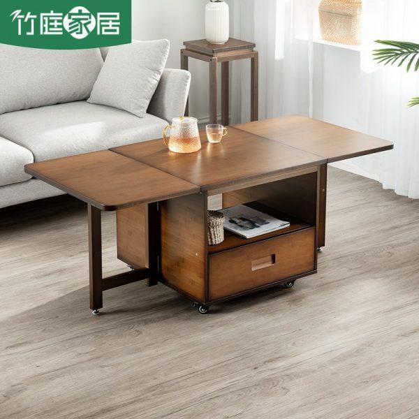 space saving furniture living room bamboo folding coffee table