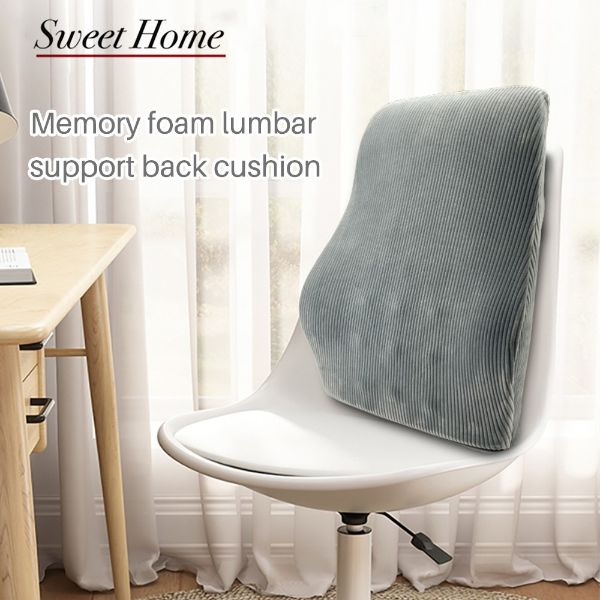 memory foam lumbar support best back support for office chair