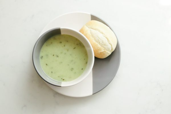 zucchini basil parmesan soup bread healthy recipe for weight loss