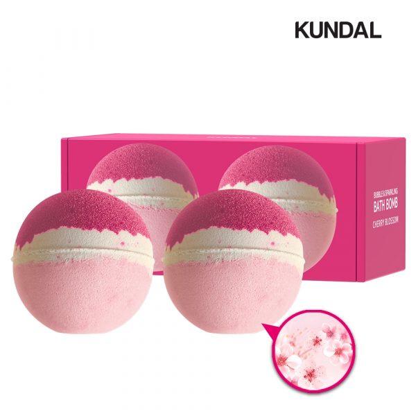 Kundal Bubble Sparkling Cherry Blossom Bath Bomb best singapore