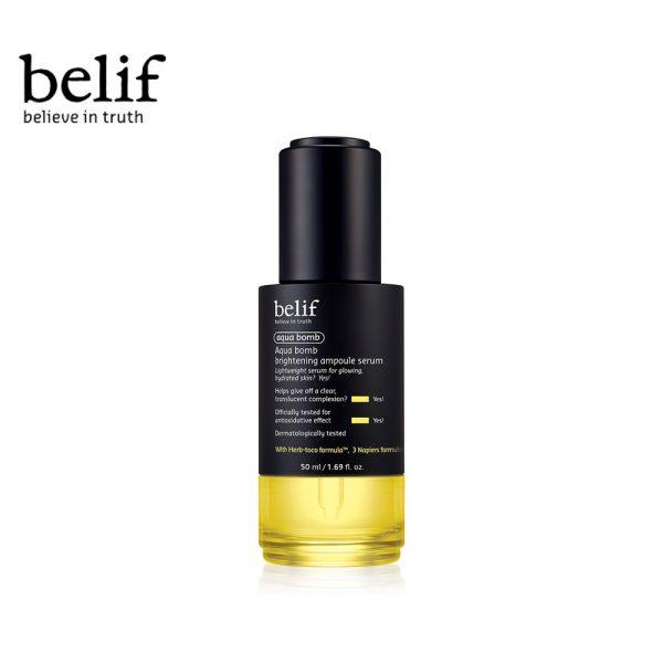 Belif Aqua Bomb Brightening Ampoule Serum korean anti ageing serum
