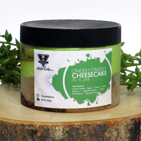 hipster bake small ondeh ondeh cheesecake in a jar halal snack singapore
