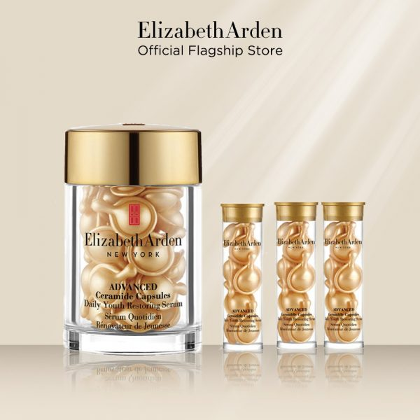 Elizabeth Arden Ceramide Capsule Daily Youth Restoring Serum best anti ageing serum gold