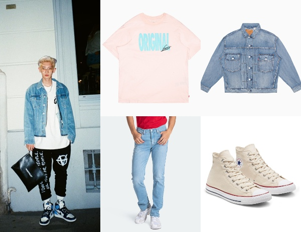 how to style oversized shirts for men with a denim jacket