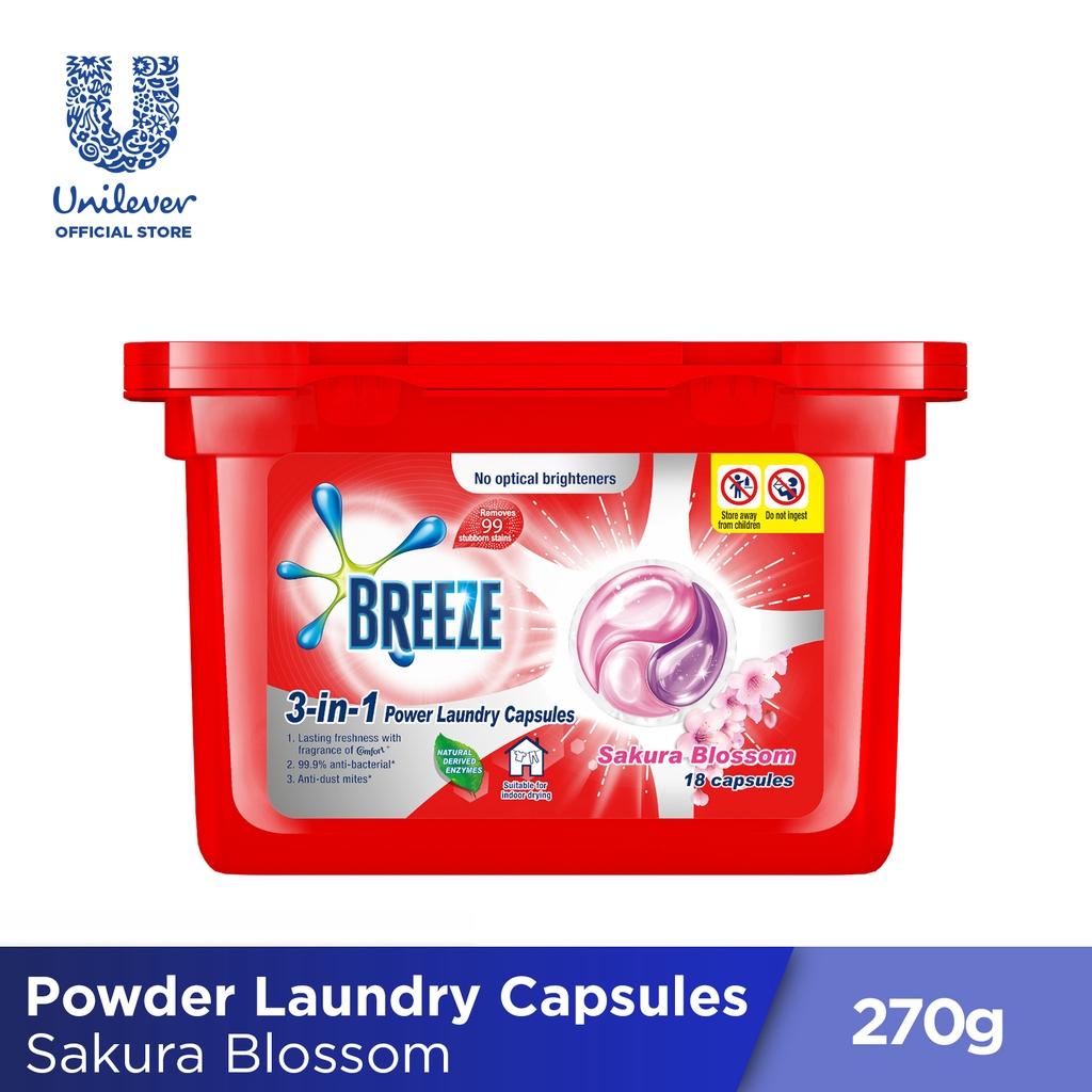 Breeze 3-in-1 power laundry capsules sakura