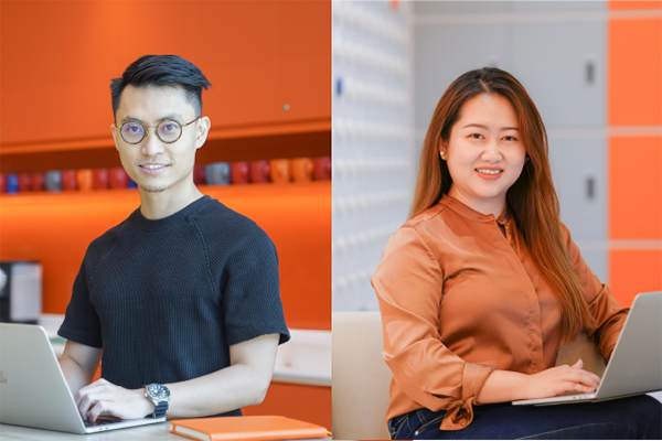 [Left] Phong, [Right] Carmen, from the Shopee Data Product Management team
