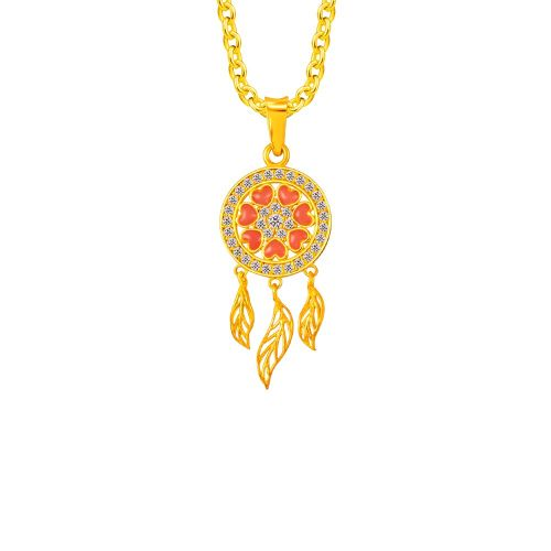 dreamcatcher necklace types of gold