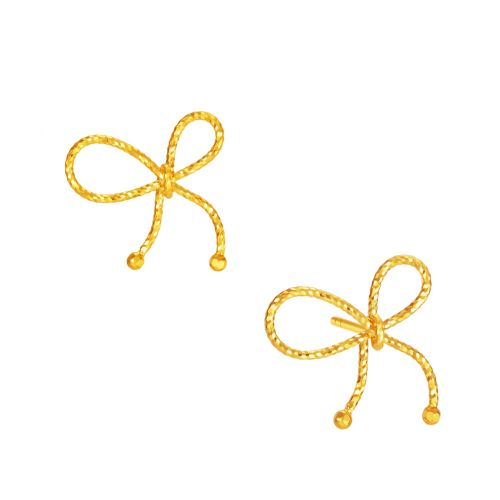 rope ribbon earrings types of gold
