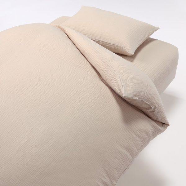 best bedsheet singapore material cooling muji triple gauze fitted sheet