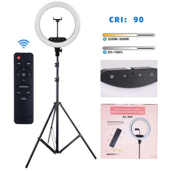 selens 14 inch led ring light stand remote control how to start streaming on twitch
