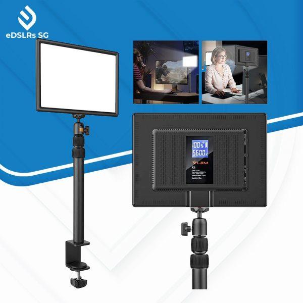 vjim k4 led video light panel table mount space saving game streaming equipment
