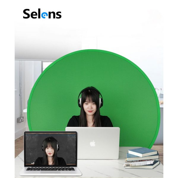 selens portable green screen circle strap onto chair how to start streaming on twitch