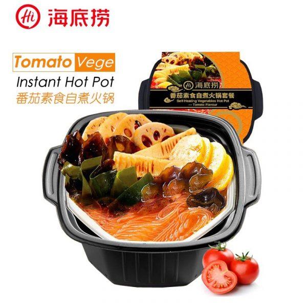 self heating hot pot instant hadilao tomato vegetarian