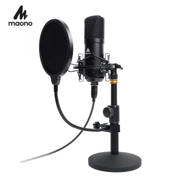 maono au-a04t usb microphone kit game streaming how to start streaming on twitch