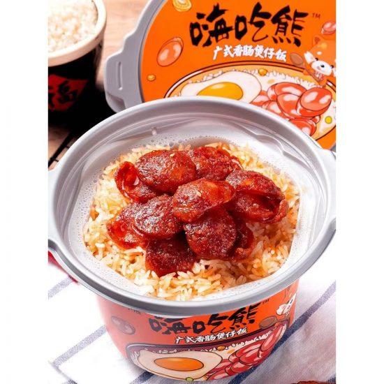 instant food lucky bear self heating claypot rice