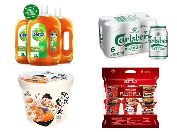 dettol carlsberg haichijia nongshim ramyun grocery shopping online