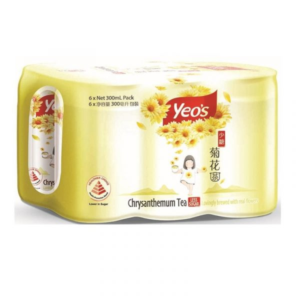 grocery shopping online yeo's chrysanthemum tea less sugar six cans