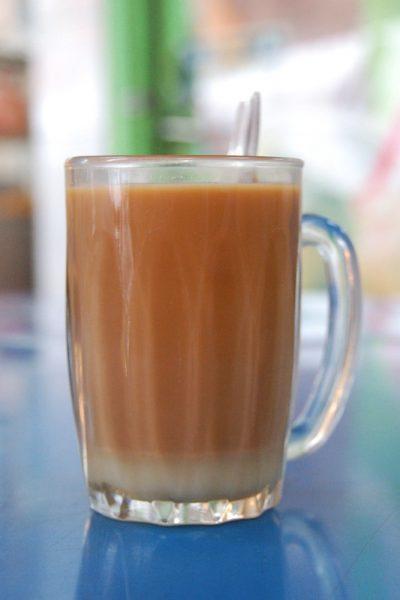 teh halia milk tea with ginger spice local singapore drink