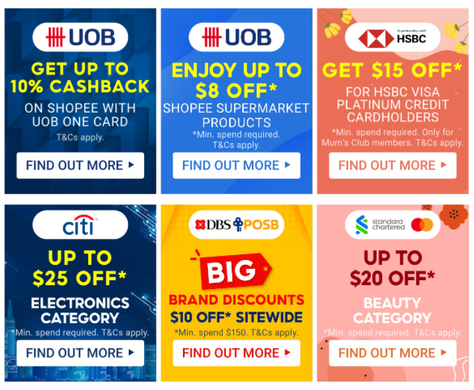 bank promotions shopee 8.8 national day sale