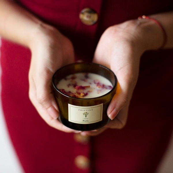 pristine natural soy wax candles with essential calm relaxing teachers' day gift ideas singapore