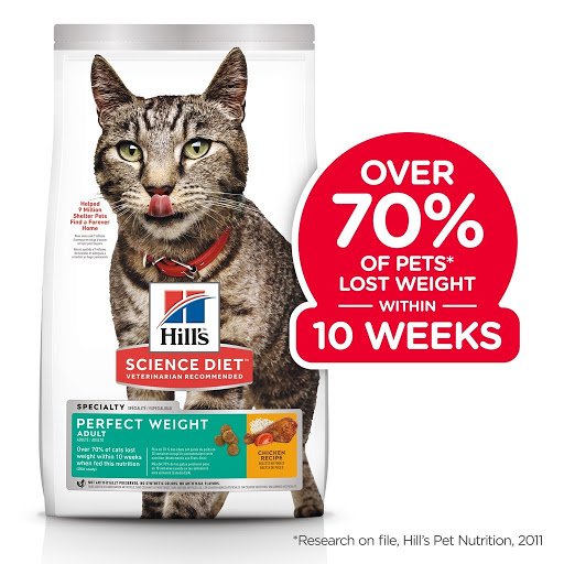 best dry cat food obese Hill's Science Diet Adult Perfect Weight Chicken Dry Cat Food